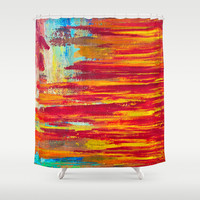 Summer Light Shower Curtain by Sophia Buddenhagen