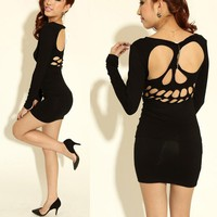 Cool skull hollow out nice sexy dress