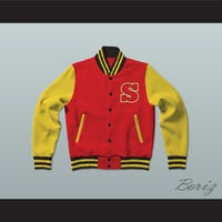 Smallville Crows High School Varsity Letterman Jacket-Style Sweatshirt