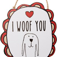 I Woof You Ornament with Magnet Christmas Tree Ornament