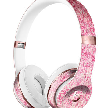 Faded Deep Pink Damask Pattern Full-Body Skin Kit for the Beats by Dre Solo 3 Wireless Headphones