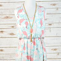 EVERLY: Be a Flamingo Romper
