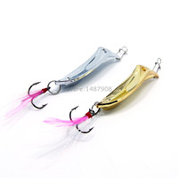 2 ColorsSpoon Metal Lures Fishing Lures Hard Bait Fresh Water Bass Walleye Crappie Minnow Fishing Tackle