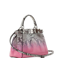 Fendi Peekaboo Mini Degrade Python Satchel Bag