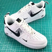 Nike Air Force 1 07 Lv8 Utility Pack Low White Balck Fashion Shoes - Best Online Sale