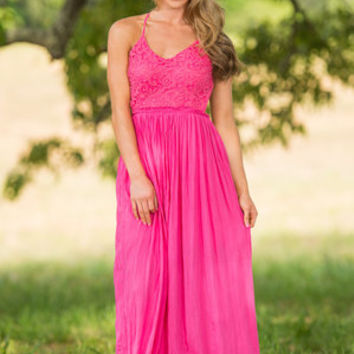 Prophetic Perspectives Maxi Dress, Hot Pink