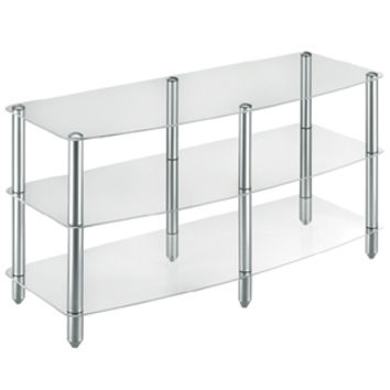 3 Shelf Glass & Steel TV Stand & Audio Rack