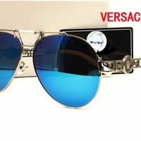 Versace New HD Night Vision Driving Anti Glare Glasses Eyewear sun glass gun Metal Frame mens womens sunglasses