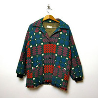 STOREWIDE SALE... English tapestry coat. Vintage wool winter coat.
