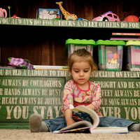 Forever Young lyrics painted on bookcase by KingstonCreations