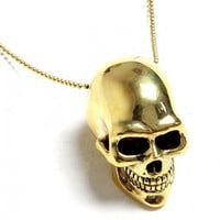 Golden Skull Pendant - ACCESSORIES - WOMEN Online store> Shop the collection
