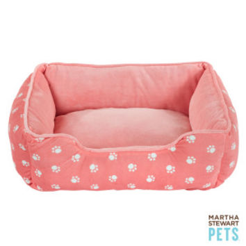 Martha Stewart Pets® Paw Print Cuddler Pet Bed