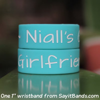Niall's Girlfriend One Direction Wristband 1 Inch Bracelet