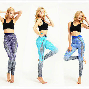 2016 New Women  Workout  Print  Pants Leggings Lady Fitness Stretch Trousers