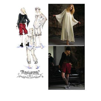 STEAMPUNK Neo Victorian Arkivestry Goth Costume Bloomers Top Cap Dress Flared Sleeves Bust 36 to 44 Simplicity 2777 UNCUT Sewing Patterns