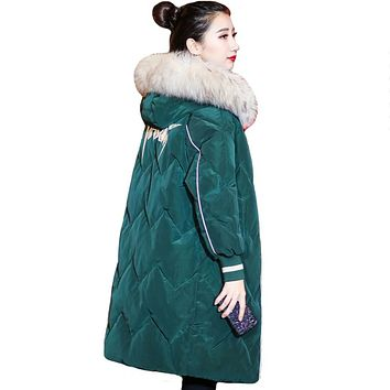 New Design 2019 Winter Jacket Women High Quality Female Hooded With Fur Long Parka Warm Thicken Ladies Coat