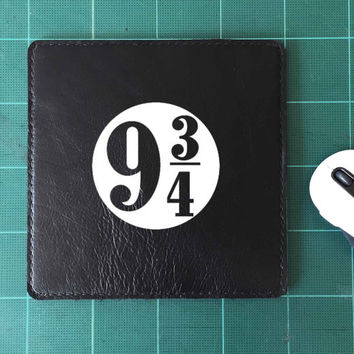 9 3/4 Sign Platform 9 3/4 Mouse Pad Leather Harry Potter Mousepad Mouse Mat