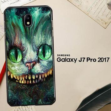 Alice In Wonderland And Cheshire Cats V1379 Samsung Galaxy J7 Pro SM J730 Case