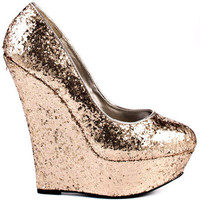 Bebe Shoes - Omega - Gold Glitter