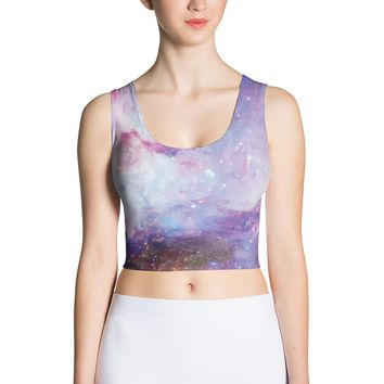 Galaxy Crop Top Cut & Sew Crop Top Fitness Top