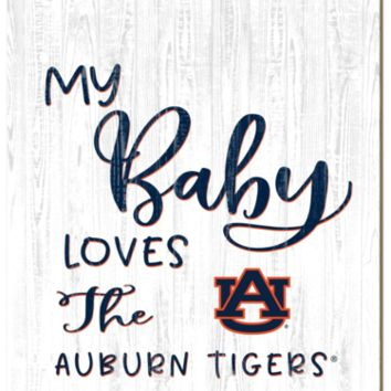 Auburn Tigers | My Baby Loves | Sign | Wood | Rope Hanger | NCAA