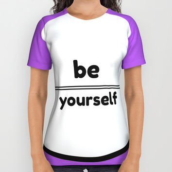 BE YOURSELF All Over Print Shirt by Love from Sophie