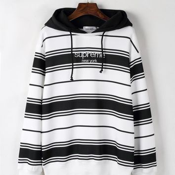 Stripes Pullover Hoodies Star Winter Long Sleeve Hats [11335926919]