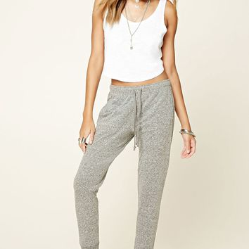 Heathered Knit Sweatpants - Women - Bottoms - 2000219684 - Forever 21 EU English