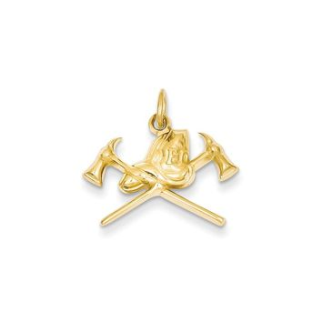 14k Yellow or White Gold Fire Department Charm