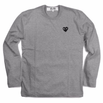COMME Des GARÇONS PLAY Long Sleeve Black Heart Shirt