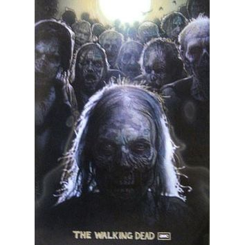 THE WALKING DEAD Zombies poster Metal Sign Wall Art 8in x 12in