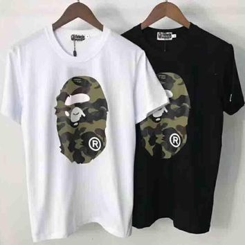 Bape Trending Fashion Casual Camouflage Print Logo Short Sleeve T-shirt G-ALG-CPFS-2