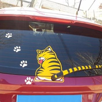 """Cutest Cat Car Decal with """"Moving Tail"""""""