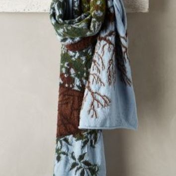 Kapital Wool Treehouse Scarf Blue Motif One Size Scarves