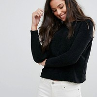 Brave Soul Erin Loose Fit Sweater In Chenille at asos.com