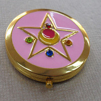 ♥♥Sailor Moon R Crystal Star Compact Brooch Locket Cosplay Custom Doll Anime♥♥