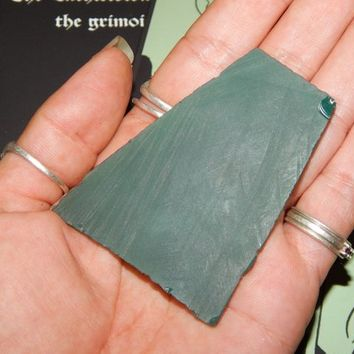 Genuine GREEN ONYX Lapidary Slab - Genuine Rough Green Onyx - Lapidary - Cabbing - Metaphysical Crystals - Gemstone Collections - Reiki
