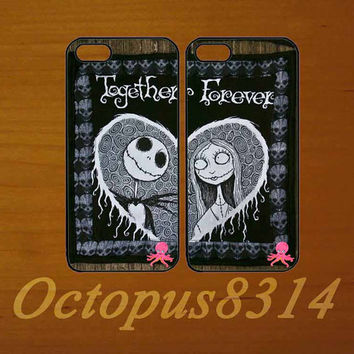 Jack and Sally,Best friends,in pair two pcs,iphone 5S case,iphone 5C cover,iphone 5 case,iphone 4 case,ipod 4 case,ipod 5 case
