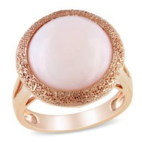 Sterling Silver Pink Opal Fashion Ring