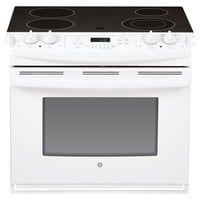 Shop GE 30-in Smooth Surface 4.4-cu ft Self-cleaning Drop-In Electric Range (White) at Lowes.com