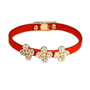 Red Stones Flower Wrap