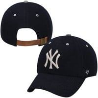 47 Brand New York Yankees Langham Melton Adjustable Hat - Navy Blue
