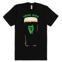 Drink Irish-Unisex Black T-Shirt