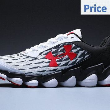 white casual shoes Under Armour Spine Disrupt Mens Running Shoes Footwear Athletic Shoes White Black Red shoes