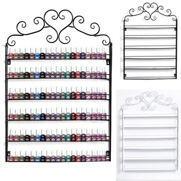 Metal Frame Nail Polish Display Wall Rack Shelf Fit Up To 120-Bottle A