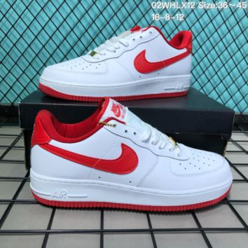 HCXX N277 Nike Air Force 1 CNY Low Leather Skate Shoes Red