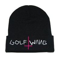 Unisex winter hat Warm Knit Beanie Cap Letter Print Golf Wang Braided Hat skull hats for women men