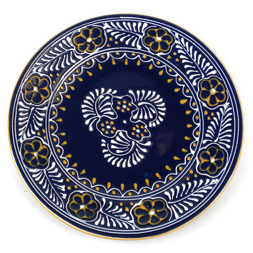 Handcrafted Ceramic Colbalt Round Plate