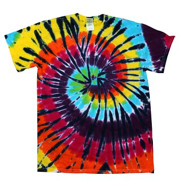 Tie Dye Multi Color Spiral Lava Lamp Colorful Kids T-Shirt