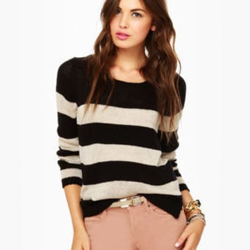 Olive & Oak About Now Striped Sweater
